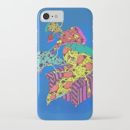 Pizza Eating Pizza - Blue Edition iPhone Case
