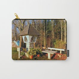 Wayside shrine and a bench | architectural photography Carry-All Pouch