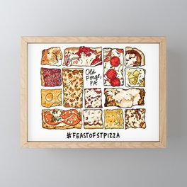 Feast of St. Pizza: Old Forge Edition Framed Mini Art Print