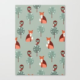 Fox Woods Canvas Print