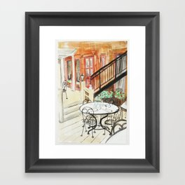 Afternoon At Maxfields  Framed Art Print
