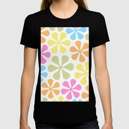 Abstract Flowers Bright Color Mix T-shirt