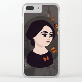 Tina Modotti and butterflies Clear iPhone Case