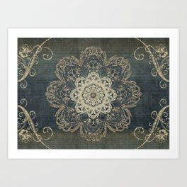 Arabesque Blue Art Print
