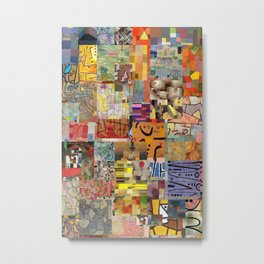 Paul Klee Montage Metal Print