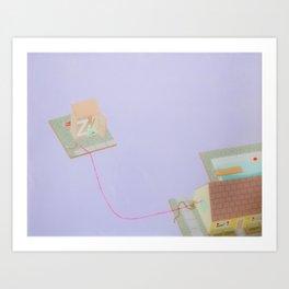 Lavender House Art Print