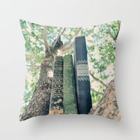 books Throw Pillows featuring Books by PureVintageLove