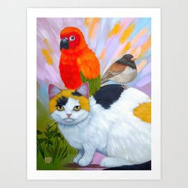 KITTY AND FRIENDS Art Print