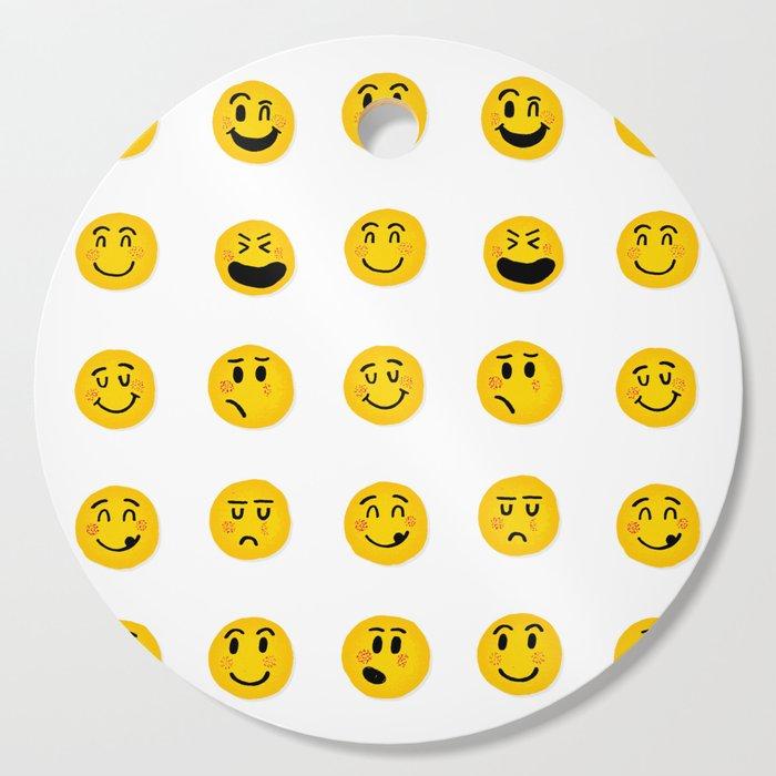 Cute Emoji pattern Cutting Board