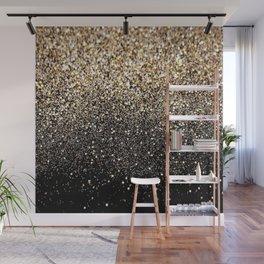 Black Royalty Glitter  Wall Mural