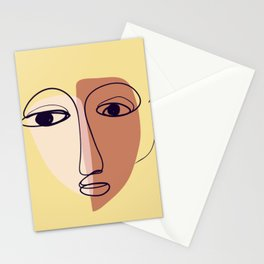 Sad face, mode, payment, form, mood Stationery Cards