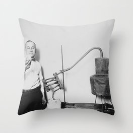 Confiscated Moonshine Still - Prohibition Era Throw Pillow