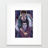 three of the possessed Framed Art Prints featuring Possessed and Possession by Daunt