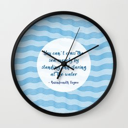 Tagore by the Sea Wall Clock