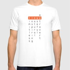 Linux - limitless, inspiring, natural, useful, extrovert - horizontal White MEDIUM Mens Fitted Tee