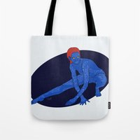 xmen Tote Bags featuring Mystique - Xmen by HappyQiwi