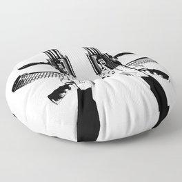 BLACK AK 47 Floor Pillow