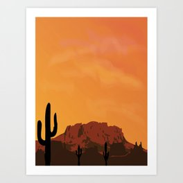 Desert series 2 Art Print