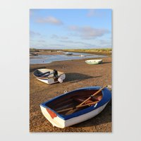 rowing Canvas Prints featuring Rowing Boats by Jude NH