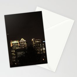 Bank at Night Stationery Cards