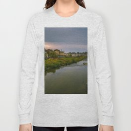 Evening at the river Long Sleeve T-shirt