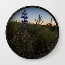 Purple Lupines at Sunset Wall Clock