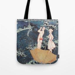 Tourists (After Hokusai) Tote Bag