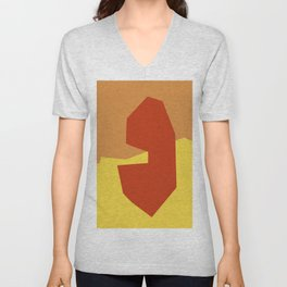 Minimalism Abstract Colors #17 Unisex V-Neck