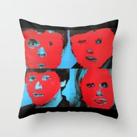 talking heads Throw Pillows featuring Talking Heads - Remain in Light by NICEALB