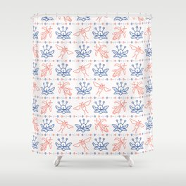 Flying Insect Bugs Seamless Pattern Shower Curtain