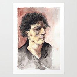 Portrait d'un jeune homme arrogant Art Print