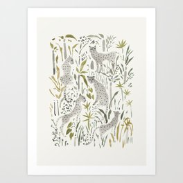 Grey Cheetahs Art Print