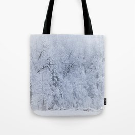 First Snow Fall Fresh Snow on Trees Nature Photography ~ Winter Hush Tote Bag