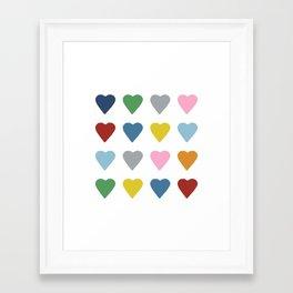 16 Hearts Framed Art Print