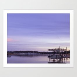 Early Morning at the Lake Art Print