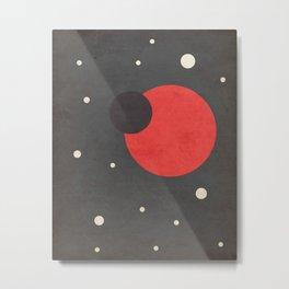 Red- Space is Hot Metal Print