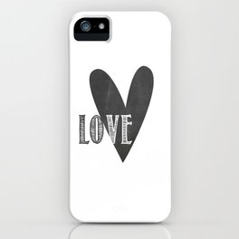 Home, Love, Illustration, Heart,  iPhone Case