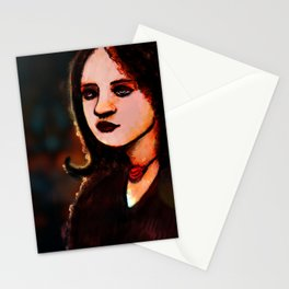 Girl on the street Stationery Cards