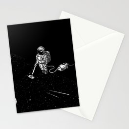 Space Clean Up by Astronaut Stationery Cards