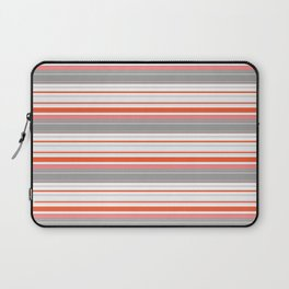 Orange Butterfly Coordinating Stripe Laptop Sleeve