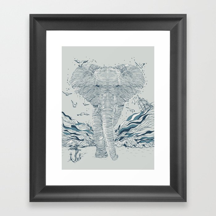 THE OCEAN SPIRIT Framed Art Print