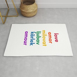 LOVE in 6 Languages Rug