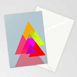 Triangles - Rouge color scheme Stationery Cards