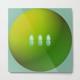 Eternal Circle of Pineapples Metal Print