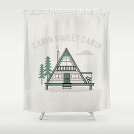 Cabin Sweet Cabin Shower Curtain