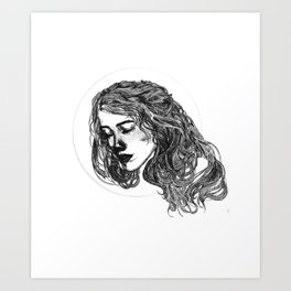 Threaded Art Print