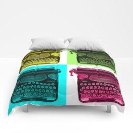 Typewriter Grid Comforters