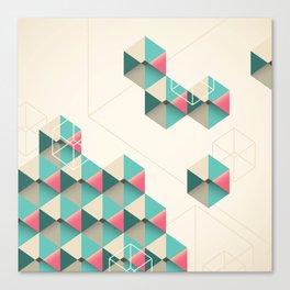 Empty cubes Canvas Print