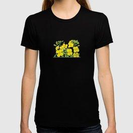 Summer flower in yellow T-shirt