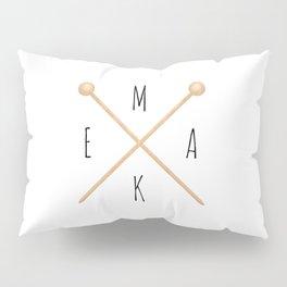 MAKE  |  Knitting Needles Pillow Sham